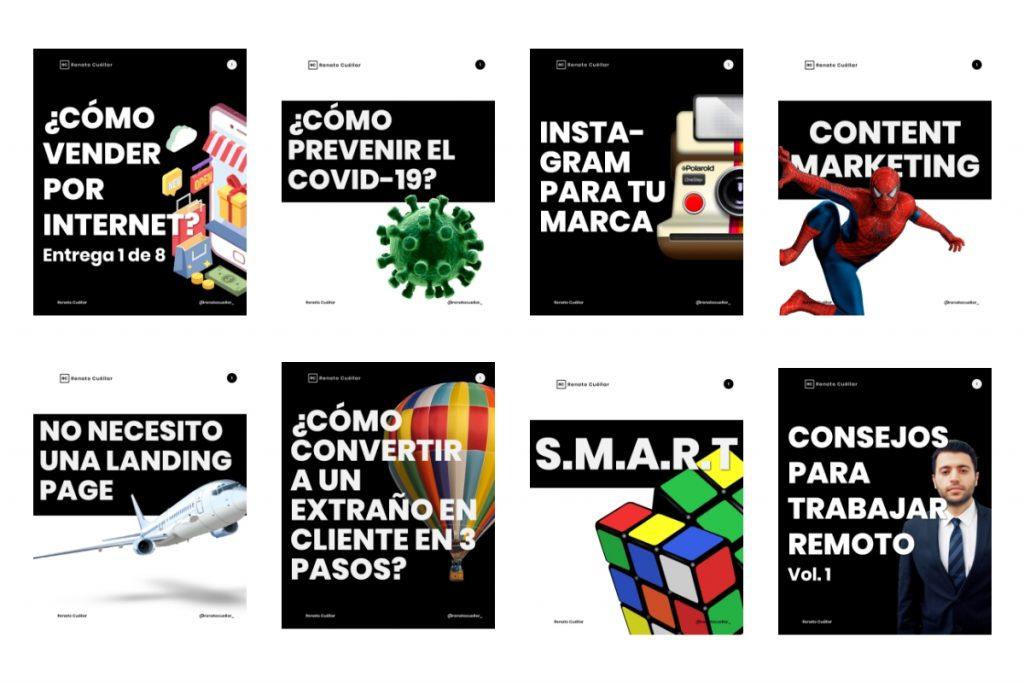 Imágenes del Instagram de Inbound Marketing de Renato Cuéllar